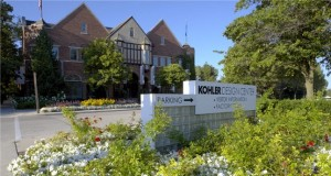 Entrance to the Kohler Design Center and Factory in Kohler, Wisconsin; image from the Kohler Design Center website