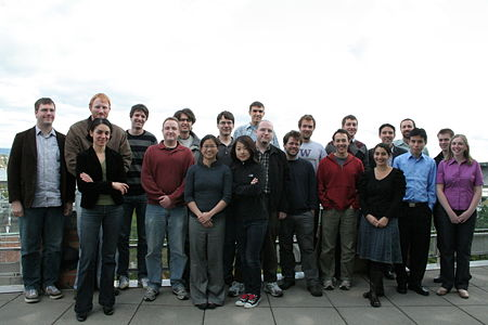 Group photo from the SOSLab Retreat in October of 2009. Pictured are SOSLab graduate students, undergraduates and postdocs as well as a few collaborators from Seelig's and Nemhauser's and Fazel's Labs. The SOSLab collaborates with faculty members in Biology, Chemical Engineering, Biochemistry, Bioengineering, and beyond.