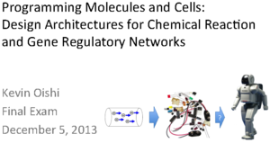 Programming Molecules and Cells: Design Architectures for Chemical Reaction and Gene Regulatory Networks
