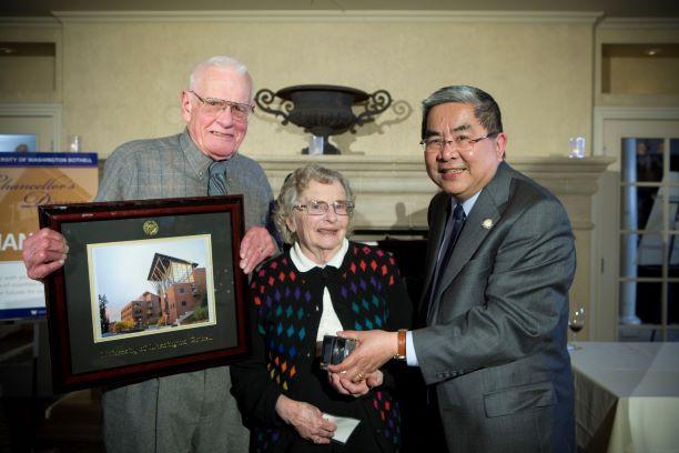 Doug and Barbara Allen with Chancellor Chan