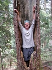 Patrick Mulligan in a tree
