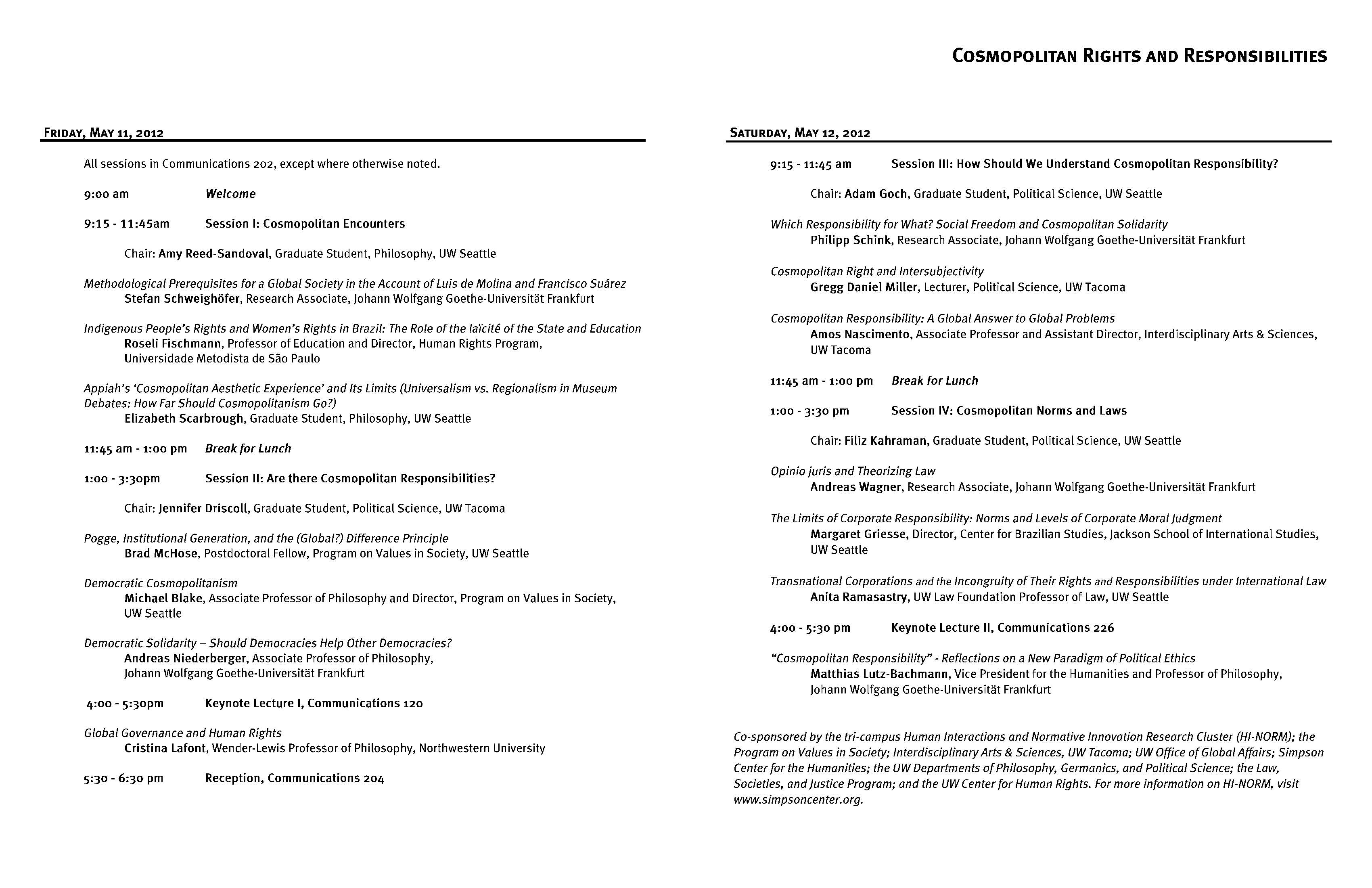 Conference Programs Simpson Center For The Humanities