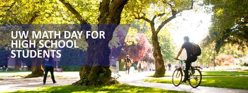 UW Math Day banner