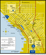 Downtown Seattle map