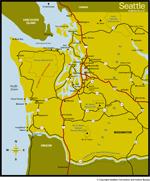 Western Washington map