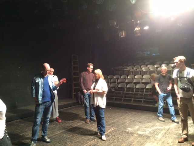 Company actors rehearsing The Seagull at the Ilkhom Theatre in Tashkent, Uzbekistan.