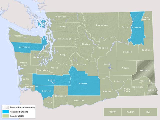 Washington State Parcel Database: Metadata on