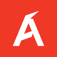 logo with red background and bold white letter 'A'