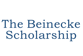 """Blue serif font on white background that reads 'The Beinecke Scholarship"""""""