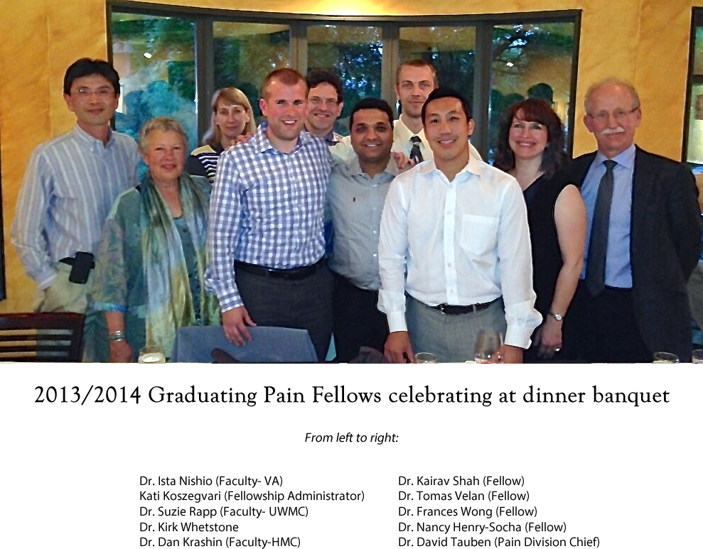 2013-14 Graduating Pain Fellows