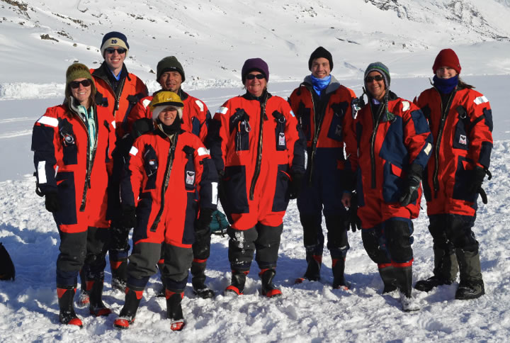 Whole team in Greenland