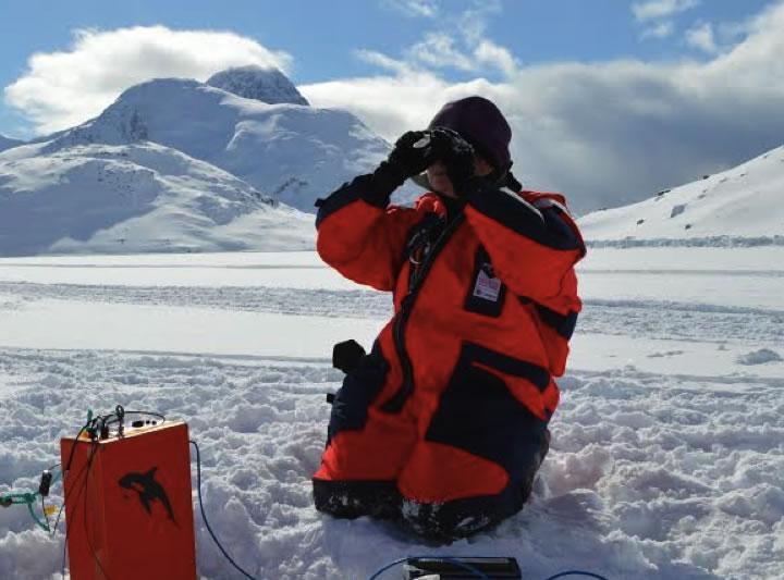 Professor Jody Deming in Greenland