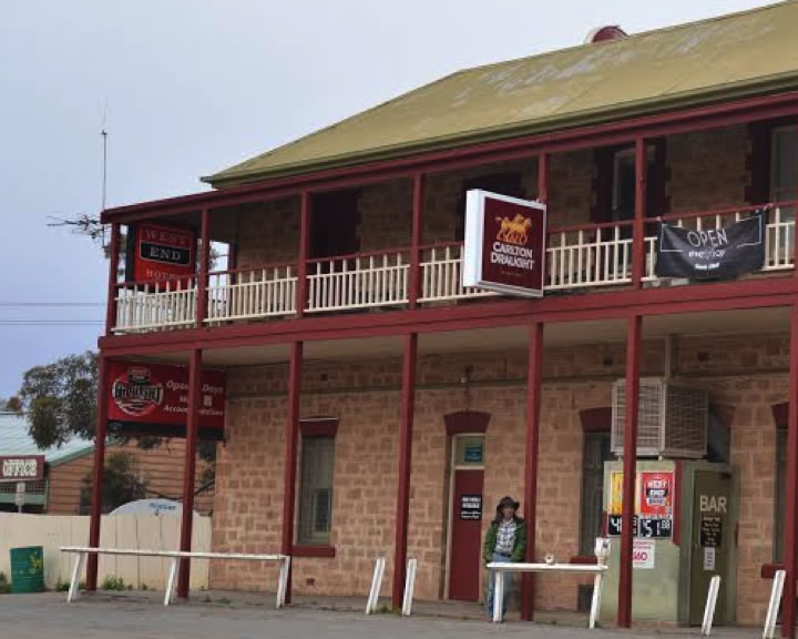 Roger Buick in an outback town
