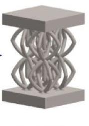 Optimal Pyramidal Lattice Structure
