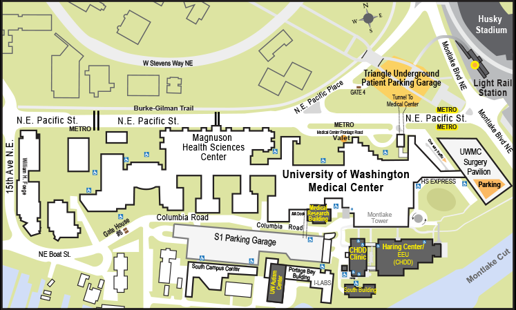 CHDD - Directions Medical University Of Washington Map on university of wa campus map, uwmc campus map, center for washington map, seattle washington united states map, uw-washington map,