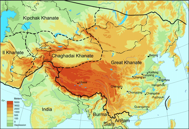 Image result for yuan dynasty empire map