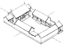 Chinese courtyard house plan