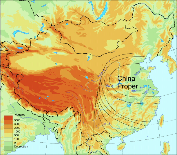 Land - Map of china