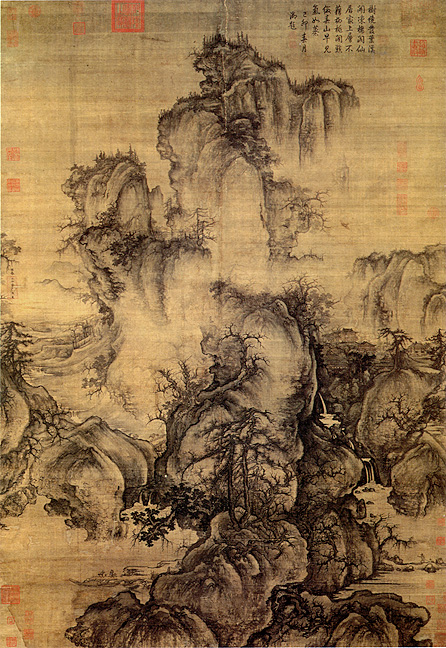 Guo xi 39 s early spring for Dynasty mural works