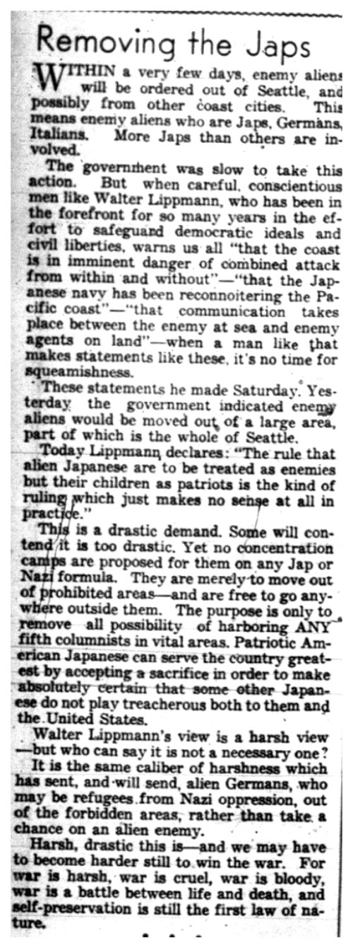japanese internment camps articles newspaper