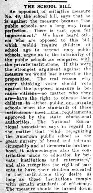 The Ku Klux Klan and the Anti-Catholic School Bills of