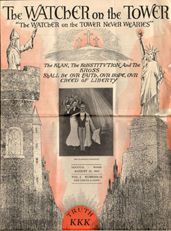 ku klux klan in washington state s the watcher on the tower kkk paper published in seattle in 1923