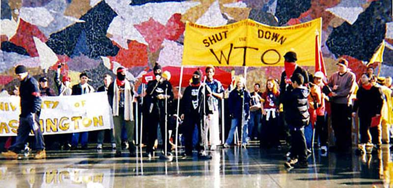1999 wto seattle protest Seattle's insurance company has agreed to pay $1 million to settle claims from about 175 people who were wrongly arrested during a peaceful world trade organization protest in 1999.