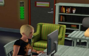 Progress toward writing skill, Sims3 (EA, 2009)