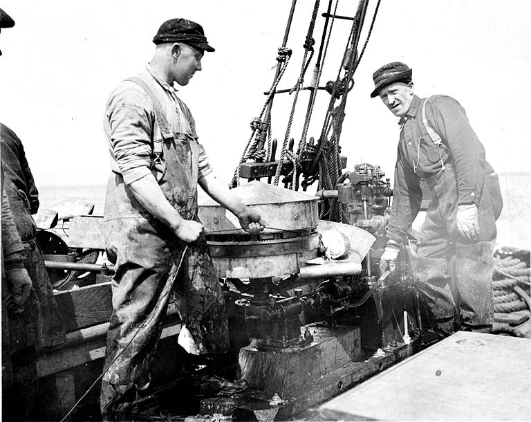Photographs fishing workers for The history of fish