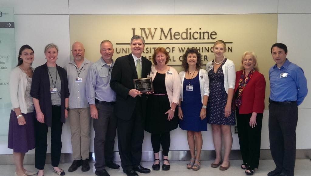 Steve Zieniewicz, executive director of UWMC, and the Palliative Care Team