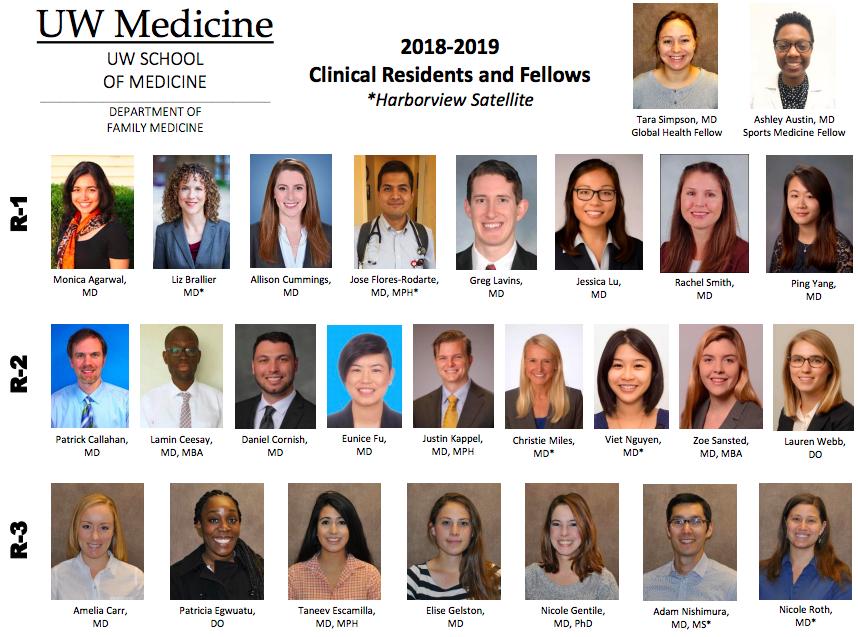Residents Fellows Uw Department Of Family Medicine