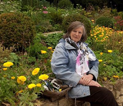 Anna Pavord in her garden