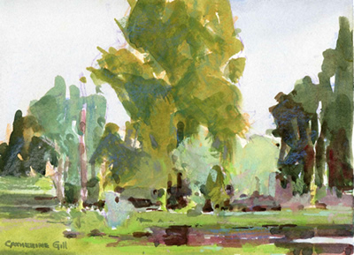 Gill's CUH pond painting