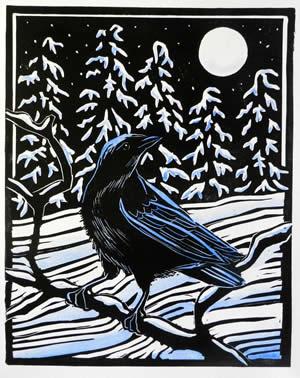 Molly's crow card