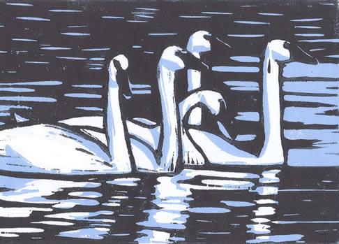 Molly Hashimoto Swan painting