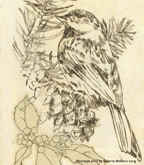 Roberta McDaris Long bird print