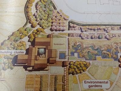 detail from an undated horticulture center  site plan by Jones & Jones, circa 1980