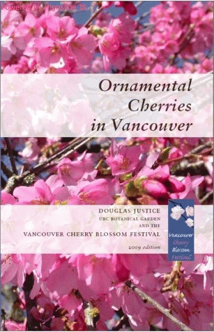 Ornamental cherries in Vancouver book cover
