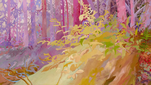Patty Haller's Nurse Log painting