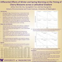 Differential Effects of Winter and Spring Warming on the Timing of Cherry Blossoms across a Latitudinal Gradient by Arthur Hsin-Wu Hsu, Kyungdahm Yun, and Soo-Hyung Kim poster