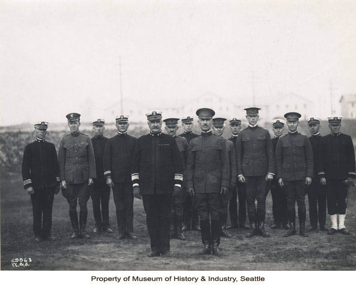 navy men lined up at attention