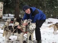 Visiting the sled dogs