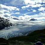The top of Exit Glacier, with the Harding Ice Field beyond.