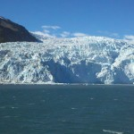A beautiful tidal glacier flowing into the fjord.
