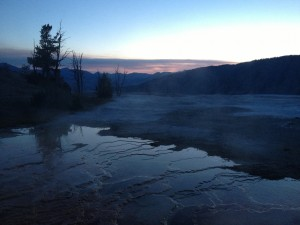 Sunrise over Yellowstone National Park