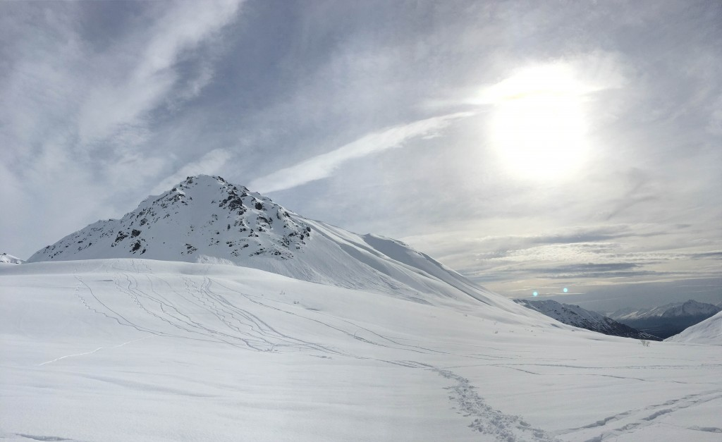 Snowshoeing in Hatcher's Pass, AK - north of Anchorage
