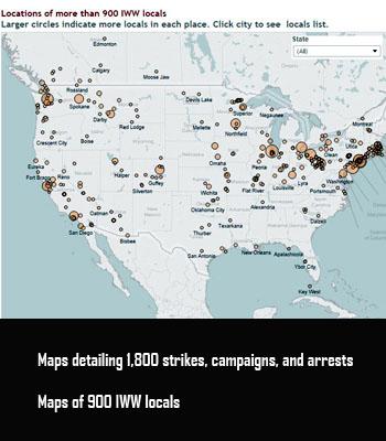Labor Union States Map.Iww History Project