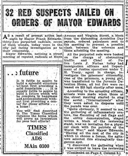 Great depression newspaper articles 1930 in this seattle times article