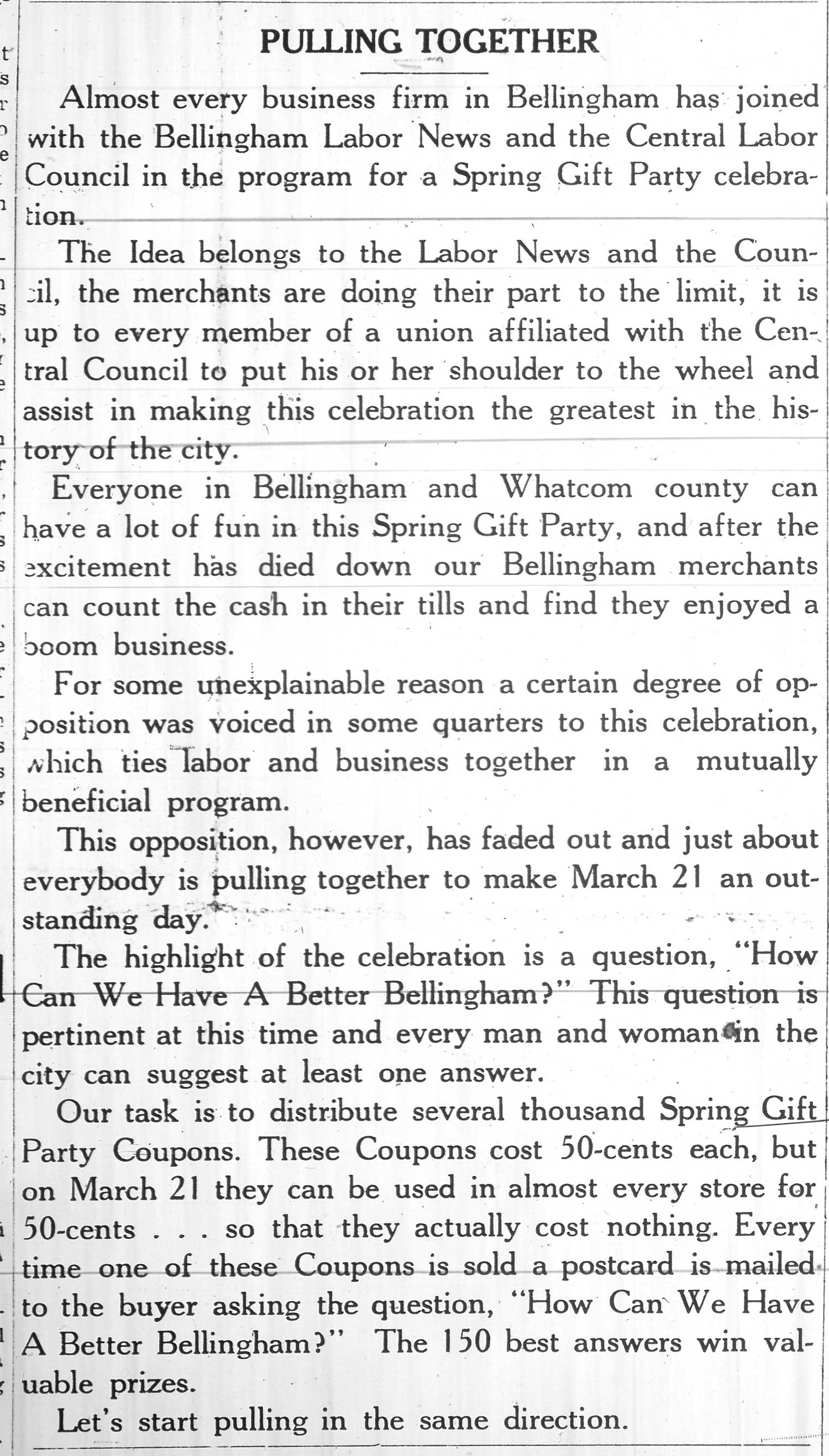 bellingham labor news the bellingham labor news not only sought to advance the labor movement but also create a better city