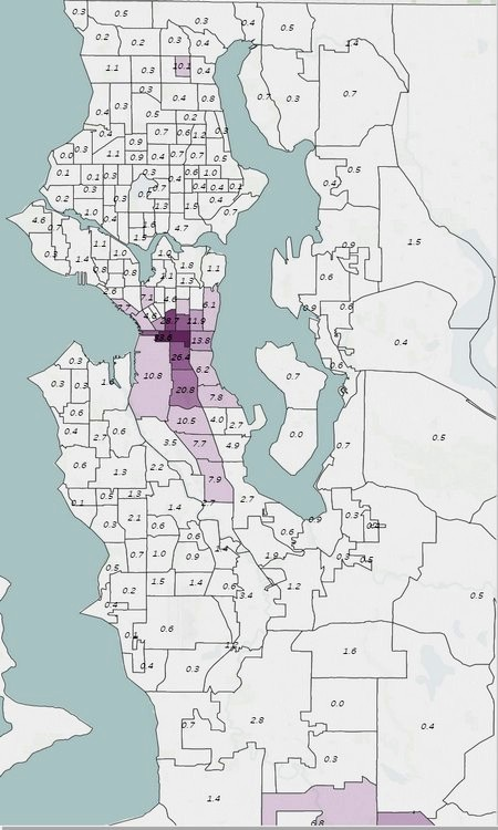 Map Of Americas Racial Segregation.Seattle Segregation Maps 1920 2010 Seattle Civil Rights And Labor
